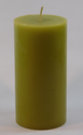 Green Plain Pillar Candles