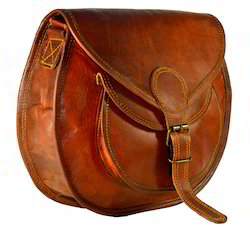Tan friends and craft Leather Sling bag