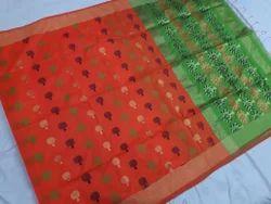 Multicolor Wedding Wear Handloom Cotton Silk Saree
