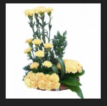 Shining yellow flower bunch yellow flowers fb flower basket shining yellow flower bunch mightylinksfo