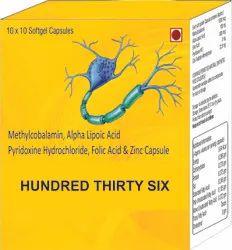 Methylcobalamin Alpha Lipoic Acid Pyridoxine Hydrochloride Folic Acid and Zinc Capsule