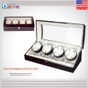 Luxury Automatic Watch Winder Display Box Case 8.9 Storage Leather