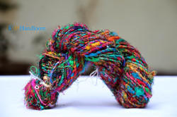 Himalayan Recycled Sari Silk Multi Color Yarn