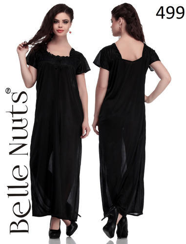Belle Nuits Black Long Nighty at Rs 499  piece  1fa5b1fb2