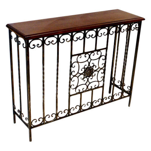 Superbe Wrought Iron Side Table
