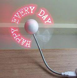 USB LED Programmable Message Fan