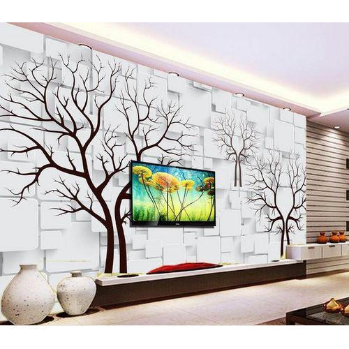 3D Tree Print Wallpaper, Thickness: 2-5 mm