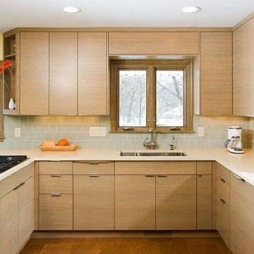 Residential U Shape Modular Kitchen, Warranty: 5-10 Years