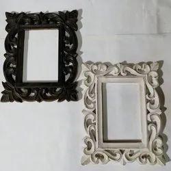 Rectangular Wooden Designer Carving Photo Frame