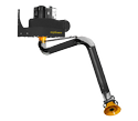 Wall mounted extraction arm
