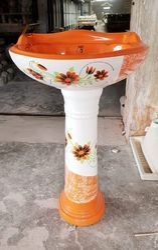 Ceramic Indian Designer Set, Shape: Round, For Sanitary