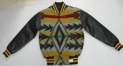 Pattern Wool Varsity Jacket