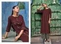 Mirrow Vol-5 Party Wear Pure Ruby Cotton With Hand Work Designer Kurtis With Palazzo