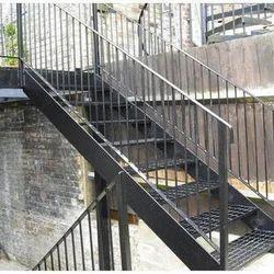 Black Mild Steel Stair
