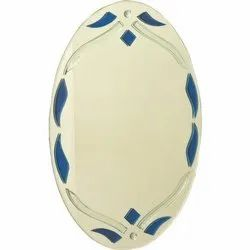 Oval Shape Designer Glass Mirror