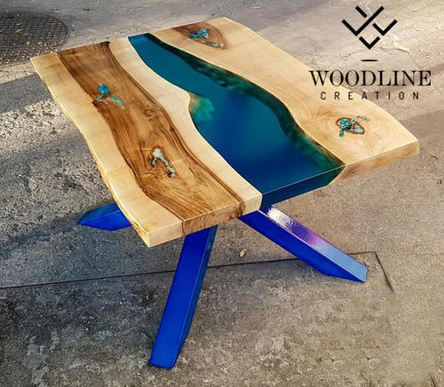 Woodline Creation Multiple Epoxy Resin Center Table Top