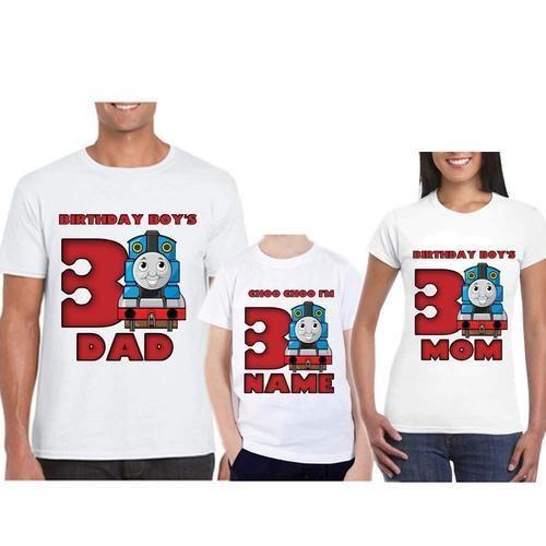 Polyester Sprinklecart Lovely Thomas Train Themed Birthday T Shirt