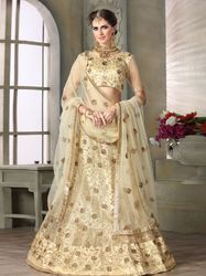 PR Fashion New Cream Colored Designer Lehenga