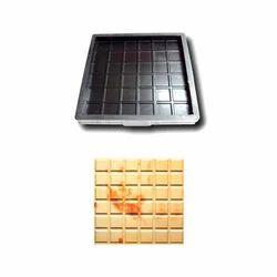 Six Checks Floor Tiles Rubber Mould