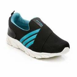 Mens Black Sea Green Synthetic Walking Shoes