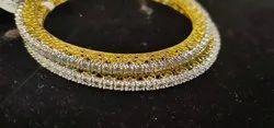 Natural Diamonds Single Line Bangles