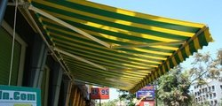 Striped Folding Awning