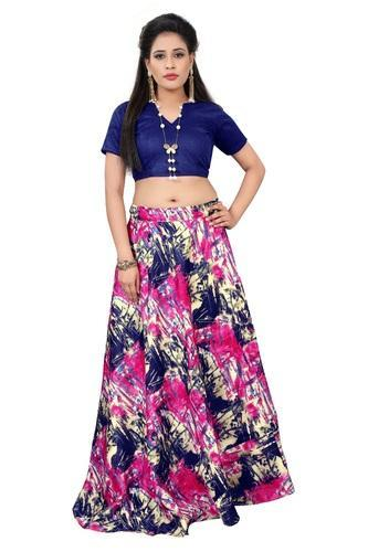 c5d2becaab Banglori Satin Printed Crop Top, Rs 499 /piece, Madhav Design | ID ...