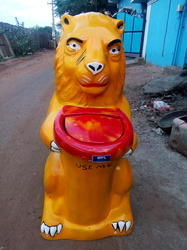 FRP Lion Dustbin