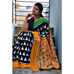 Casual Wear Printed Chettinad Cotton Saree, 5.2 m (separate blouse piece), With Blouse