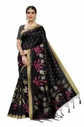 Art Silk Daily Wear Party Wear Saree with Blouse Piece
