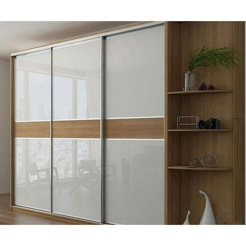 White And Brown Sliding Door Modular Bedroom Wardrobe Rs 550 Square Feet Id 20529799397