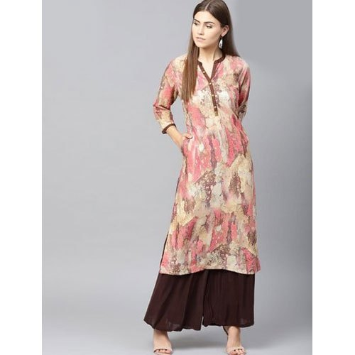 Shree A-Line Ladies Fancy Rayon Kurti, Size: S-XXL
