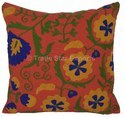 Patchwork Theme Suzani Embroidery Cushion Cover