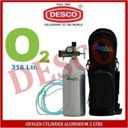 DESCO Oxygen Cylinder Aluminium 2 Ltrs for Hospital