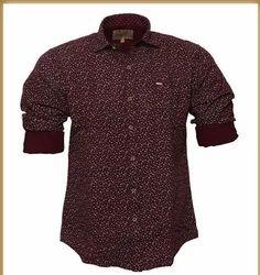 Twills Maroon men maroon shirt 23455-7439