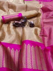 Party Wear Kora Silk Saree