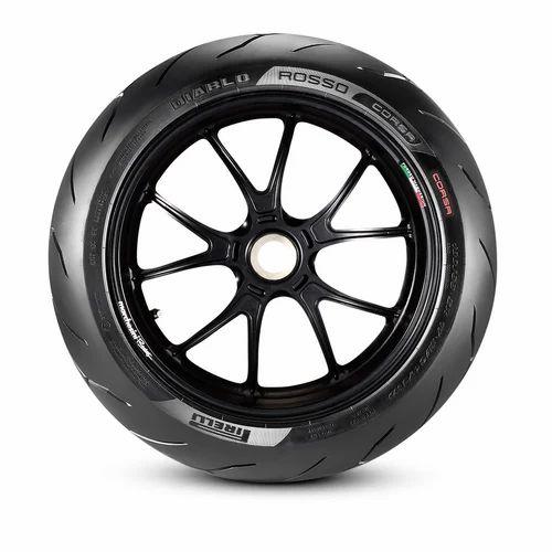 17 Inch Front Black Pirelli 120/65 ZR 17 M/C (56W) TL Diablo
