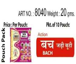 ACTION BACH (JARI BUTI), Packaging Type: Pouch