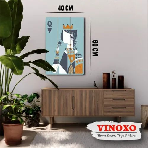 Rectangle Multicolor Vinoxo Large Size Wall Hanging Plaque