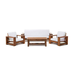 Solid Wood 5 Seater Sofa Set For Living