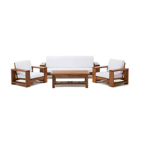 Solid Wood Sofa Sets: Solid Wood 5 Seater Sofa Set For Living Room, Rs 40000