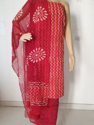 Suit with Chiffon Dupatta