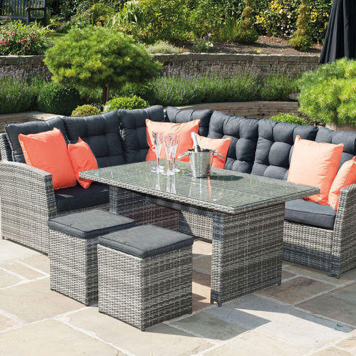 Brown and Grey Outdoor Wicker Furniture