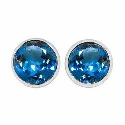 Blue Topaz & Chalcedony Stone