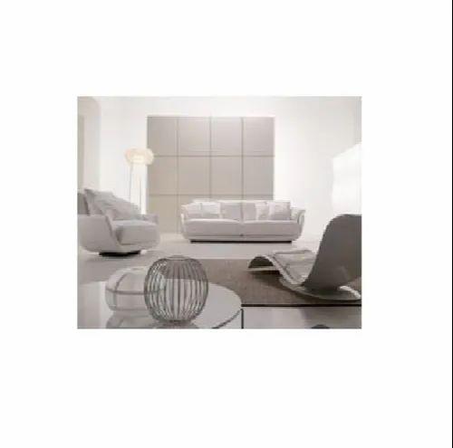 Mild Steel White Modern Sofa Set, Size: Standard, Living ...