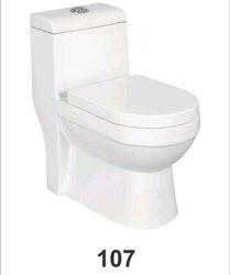White One Piece Toilet, Packaging Type: Box