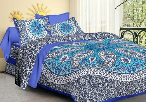 4eee3a19dd3 Hand Block Printed Bed Sheet