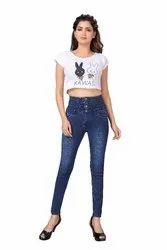 Slim Casual Wear Denim Lycra Blue Jeans