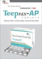 Aceclofenac 100mg  Paracetamol 325mg  Tolperisone 150mg