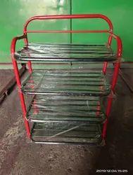 Black Folding Shoe Rack Powder Coating, Shoe Rack Capacity: 20-40 Shoes
